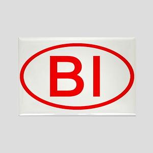 BI Oval (Red) Rectangle Magnet