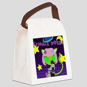 Female Dogs! Alien Neko Mousepad Canvas Lunch Bag