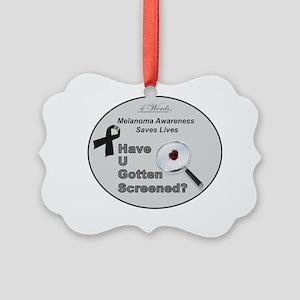 HUGS Initiative - Melanoma Picture Ornament