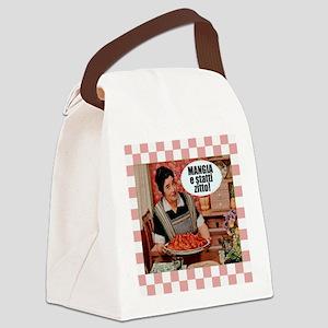 Mangia e Statti Zitto Canvas Lunch Bag