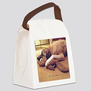 Dog with toy 1 Canvas Lunch Bag