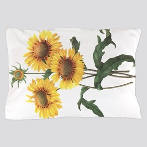Redoute Sunflowers Pillow Case