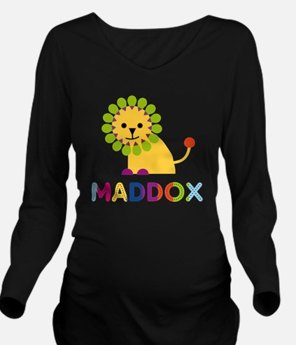 Maddox Loves Lions Long Sleeve Maternity T-Shirt
