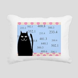 librarian cat blanket bl Rectangular Canvas Pillow