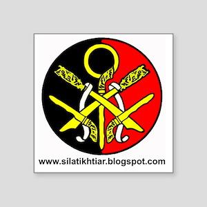 """Silat Ikhtiar Square Sticker 3"""" x 3"""""""