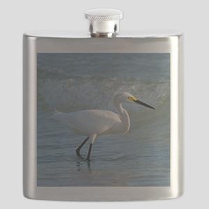 Snowy egret Flask