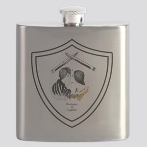 Montague and Capulet Shield Flask
