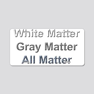 All  Matters Aluminum License Plate