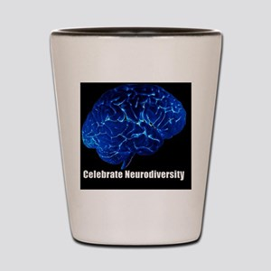 celebrate-neurodiversity-blue-sticker Shot Glass