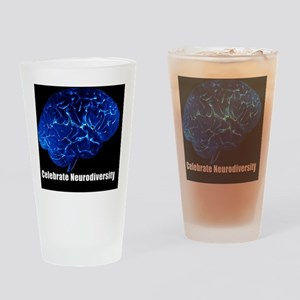 celebrate-neurodiversity-blue-stick Drinking Glass