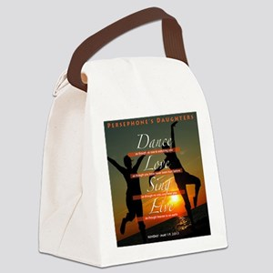 Dance Love Sing Canvas Lunch Bag