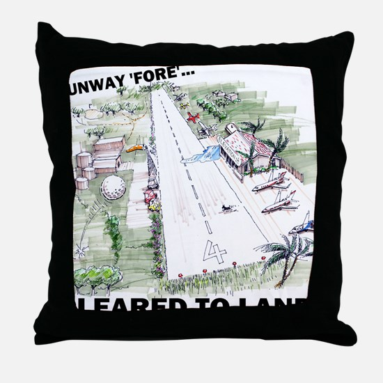 Cleared To Land? Throw Pillow