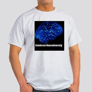celebrate-neurodiversity-blue-poster Light T-Shirt