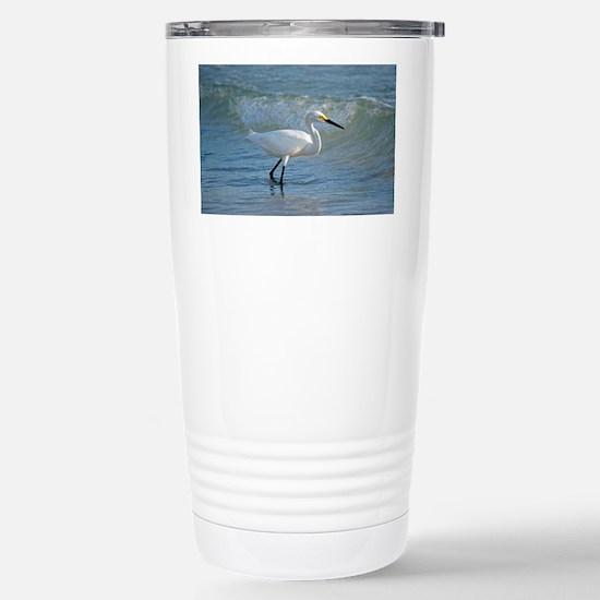 Snowy egret Stainless Steel Travel Mug