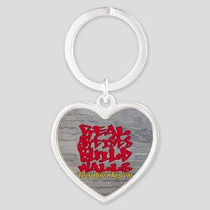Cap Stonewashed Heart Keychain