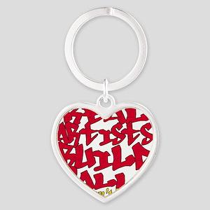 r Heart Keychain