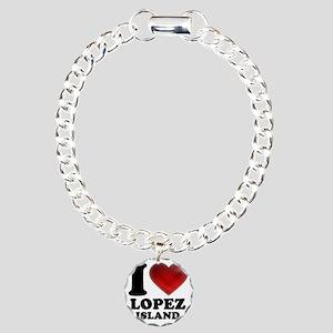 I Heart Lopez Island Charm Bracelet, One Charm