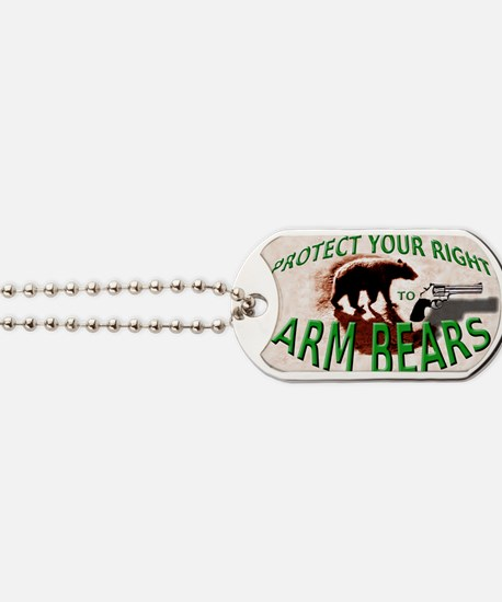 Right to Arm Bears Dog Tags