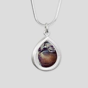 Sloths  Silver Teardrop Necklace