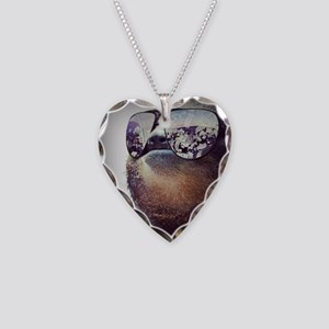 Sloths  Necklace Heart Charm