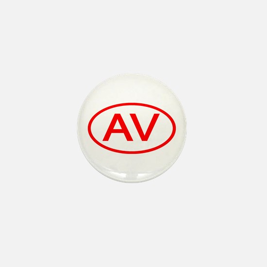 AV Oval (Red) Mini Button