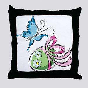 Easter Egg and Butterfly Throw Pillow