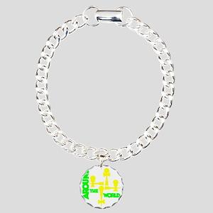 limeyellow ATW 5 Charm Bracelet, One Charm