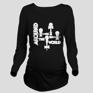 white ATW 5 Long Sleeve Maternity T-Shirt