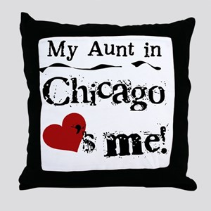 Aunt Chicago Throw Pillow