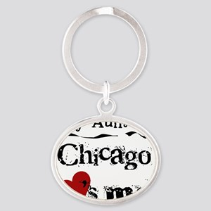 Aunt Chicago Oval Keychain