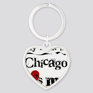Aunt Chicago Heart Keychain