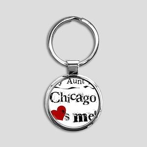 Aunt Chicago Round Keychain