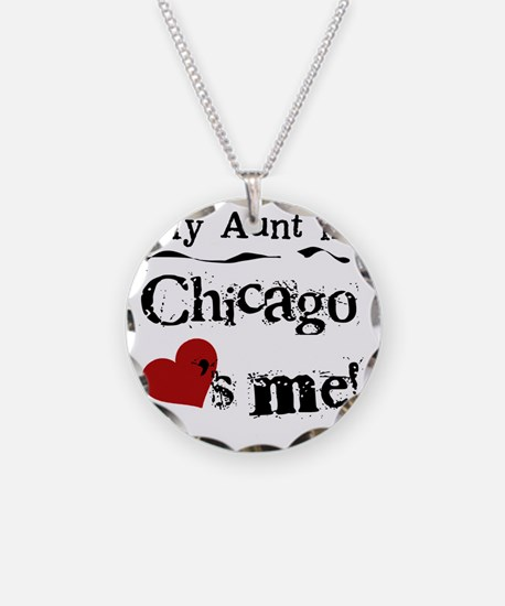 Aunt Chicago Necklace Circle Charm