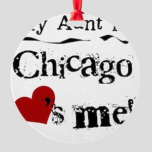Aunt Chicago Round Ornament