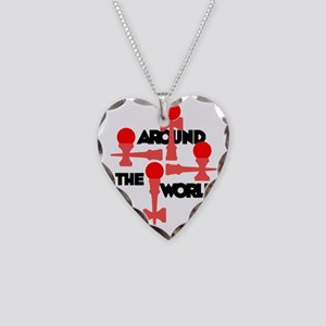 red ATW 6 Necklace Heart Charm