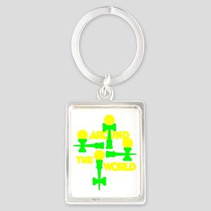 green2 ATW 6 Portrait Keychain