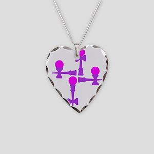 pinkpurple2 ATW 6b Necklace Heart Charm