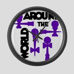 purple ATW 7 Large Wall Clock