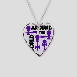 purple ATW 7 Necklace Heart Charm