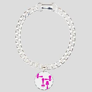 pink ATW 7 Charm Bracelet, One Charm
