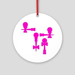 pink ATW 7 Round Ornament