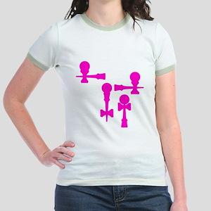 pink ATW 7 Jr. Ringer T-Shirt
