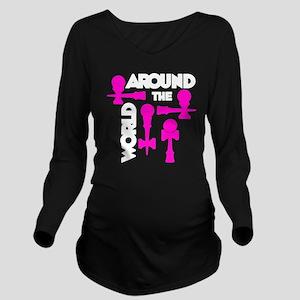 pink ATW 7 Long Sleeve Maternity T-Shirt