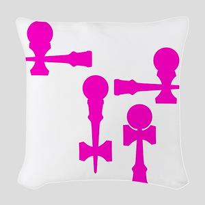 pink ATW 7 Woven Throw Pillow