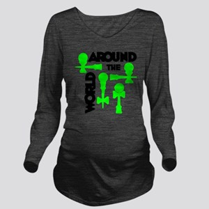 green ATW 7 Long Sleeve Maternity T-Shirt
