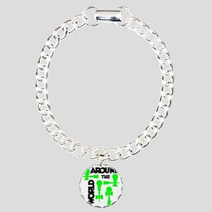 green ATW 7 Charm Bracelet, One Charm