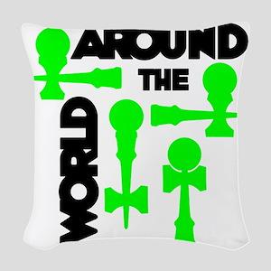 green ATW 7 Woven Throw Pillow