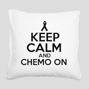 Cancer survival designs Square Canvas Pillow