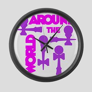 purple2 ATW 7 Large Wall Clock