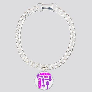 purple2 ATW 7 Charm Bracelet, One Charm